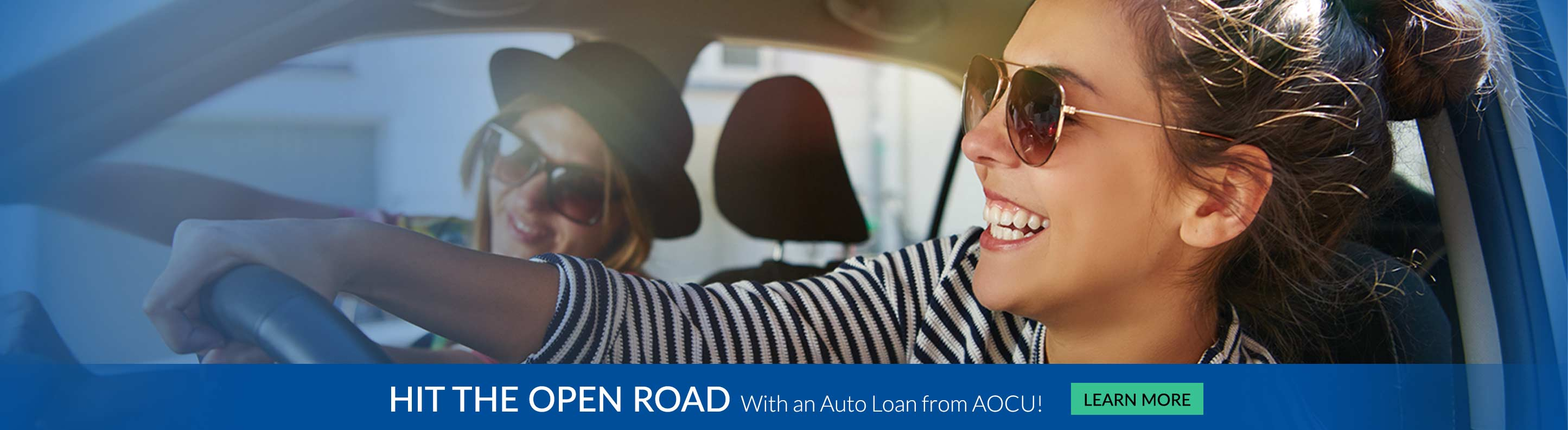 Hit the open road with an auto loan from AOCU Learn More